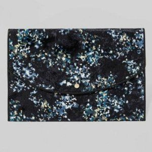 A New Day Envelope Clutch Purse Floral Velvet NEW
